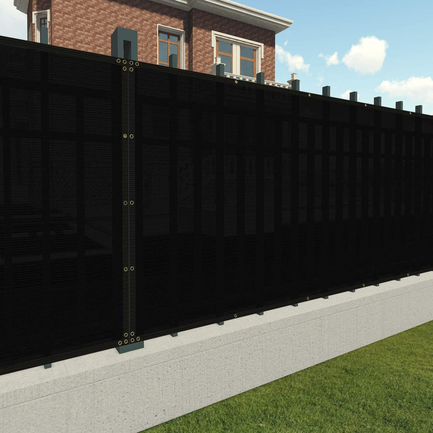 Max 75% OFF Patio Paradise 8' x 12' Privacy in Black Courier shipping free shipping Fence Screen Commercia