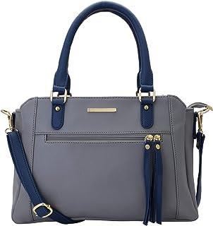 Lapis O Lupo Women Vegan Leather Handbags Fashion Satchel Bags Top HandlePurses