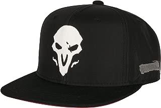 Overwatch Reaper Wraith Snapback Baseball Hat, Black, One Size