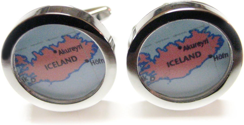 Iceland Map Cufflinks