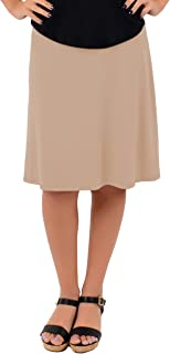 Knee Length A-Line Flowy Skirt | Comfortable Clothes for Women and Girls | S-5XL