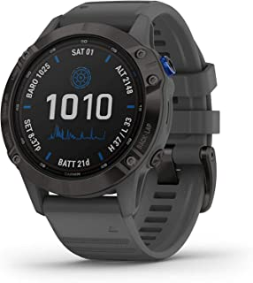 Garmin GM-010-02410-40 Fenix 6 Pro Solar Smartwatch, Black