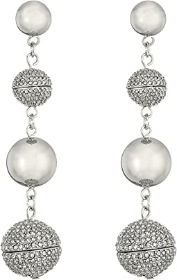 Rebecca Minkoff Statement Sphere Drop Pave Earrings