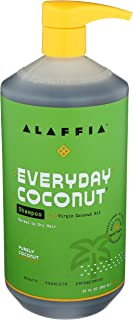 ALAFFIA EVERYDAY COCONUT SHAMPOO - Normal to Dry Hair, Helps Gently Clean Scalp and Hair of Impurities with Ginger and Coc...