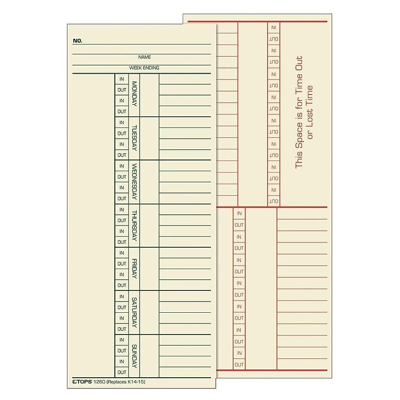 まどろみのあるスキル傾向があるTime Card for Cincinnati, Named Days, Two-Sided, 3-3/8 x 8-1/4, 500/Box (並行輸入品)