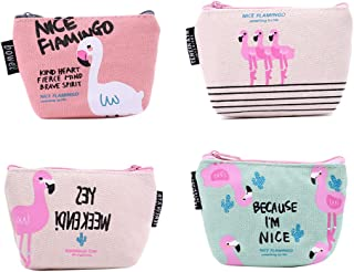 TOYMYTOY Canvas Coin Purse with Zip (12x9x3.5 cm) - Pack of 4