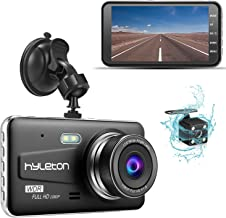 Dash Camera for Cars,hyleton 1080P HD Dual Dash Cam Front and Rear,4