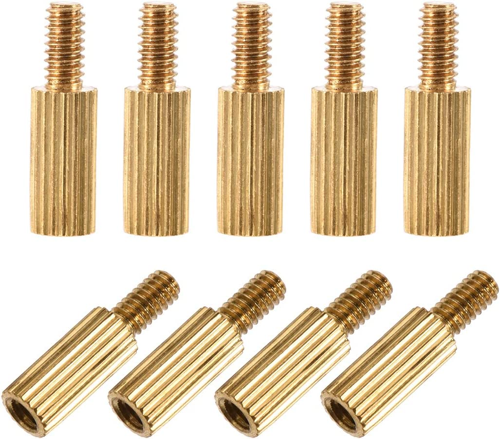 uxcell M2x7mm+4mm Male-Female Brass Cylinder Knurled PCB Motherboard Spacer Standoff for FPV Drone Quadcopter Computer /& Circuit Board 150pcs