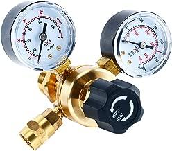 YaeTek Argon CO2 Regulators Gauges Gas Welding Regulator CGA580 Compatible with Miller Lincoln Mig Tig Weld 0-4500PSI / 0-10BAR
