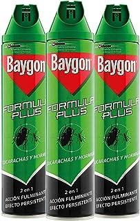 Baygon® - Insecticida contra cucarachas y hormigas, formula plus, acción rápida y efecto durad...