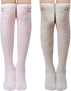 1/2 Soft Warm Fuzzy over the Knee High Long Winter Cozy Slipper Socks