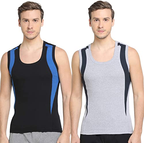 Men s Trendy Fashion Gym Vest body Fit Solid innerwear Pack of 2
