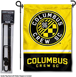 WinCraft Columbus Crew Garden Flag with Stand Pole Holder