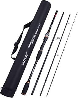 Goture Travel Fishing Rods 4Pcs,Casting/Spinning Rod with Case 6ft-10ft