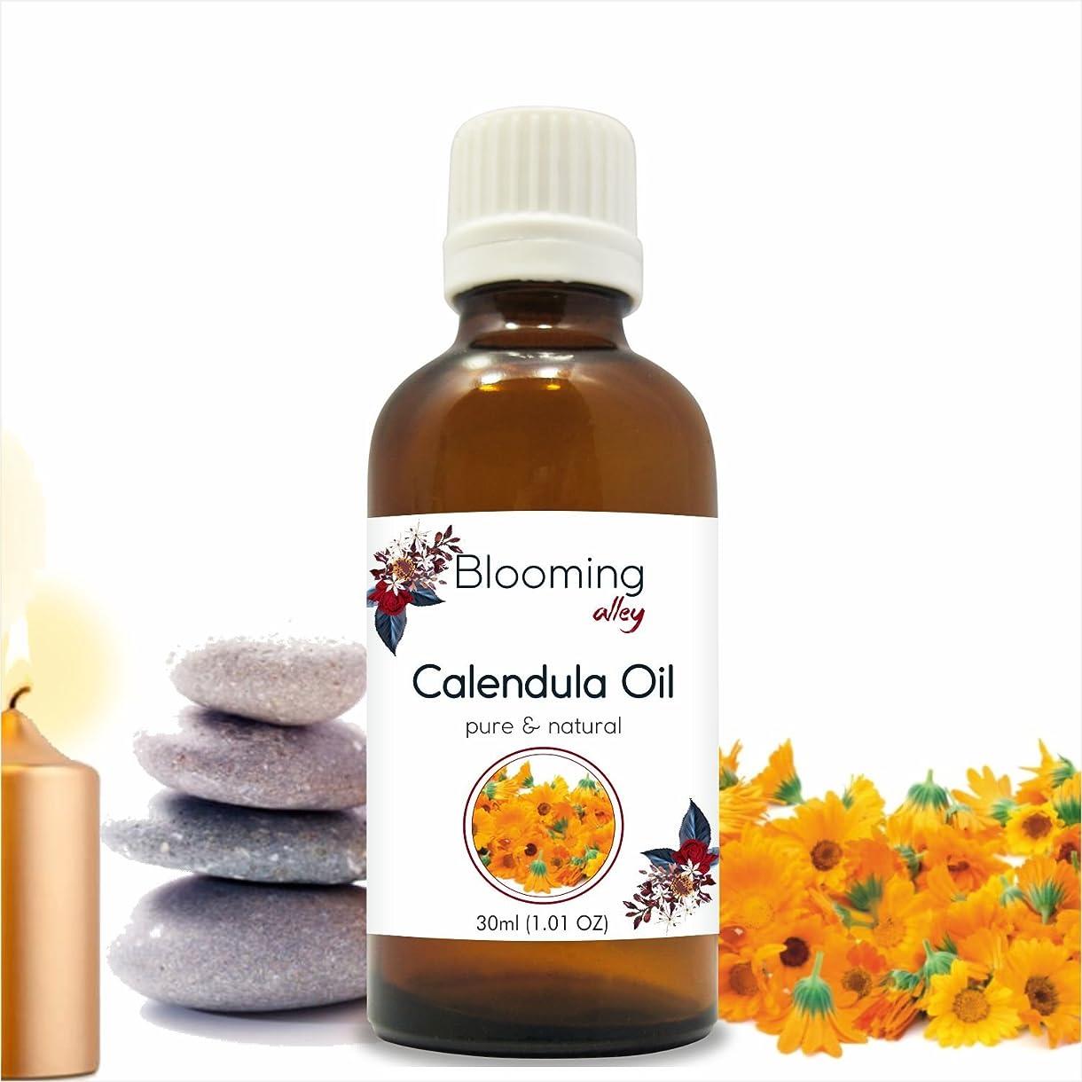 繊毛姿勢まともなCalendula Oil (Calendula Officinalis) Essential Oil 30 ml or 1.0 Fl Oz by Blooming Alley