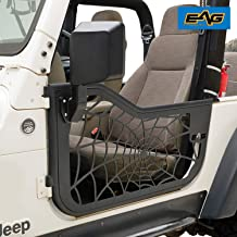 EAG Spyder Web Tubular Door with Side View Mirror Fit for 97-06 Jeep Wrangler TJ
