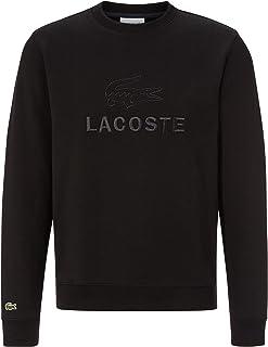Lacoste Men Sweatshirt SH8546, Men´s Pullover,Sporty Sweater,Logo,Regular Fit,Black (031),XX-Large (7)