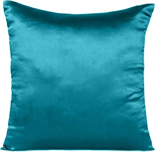 Silky Cushion Case Soft & Comfortable Pillow Covers Decorative Cushion Covers Satin Silk Pillow Cover for Sofa Waist (Cors...