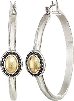 Pave Gem Hoop Earrings