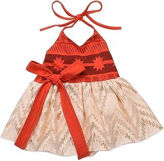250a07745273 hirigin 0-4Y Baby Kids Girls Princess Dress Summer Sleeveless Backless  Strap Tutu Bow Beach