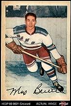 1953 Parkhurst # 55 Max Bentley New York Rangers-Hockey (Hockey Card) Dean's Cards 3 - VG Rangers-Hockey