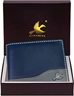 Hornbull Buttler Navy Mens Leather Wallet – Premium Quality Leather Wallet for Mens & RFID Blocking Genuine Leather Mens W...