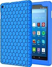 MoKo Nuevo Amazon Fire HD 8 2018 2017 Funda - Lightweight Cubierta Shockproof Cover Case Esquina Silicona Protector Parachoques para All-New Fire HD 8 Tablet, Azul