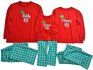 Aviat Matching Family Pajamas Sets Christmas,Soft&Casual Sleepwear,Long Sleeve Print Tee+Lattice Pants Xmas Loungewear Fit for Party Holiday,Decor for Women,Men,Kids,Boys,Girls,Festive PJs