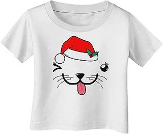TooLoud KYU-T Face Puppina Santa Girl Dog Baby Romper Bodysuit