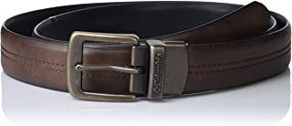 Columbia Reversible Leather Belt-Casual for Men's Jeans with Double Sided Strap