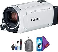 Canon VIXIA HF R800 Camcorder (White) + Pro Accessories Bundle