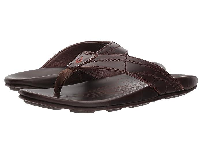 Hokule'a Kia  Shoes (Dark Wood/Dark Wood) Men's Sandals
