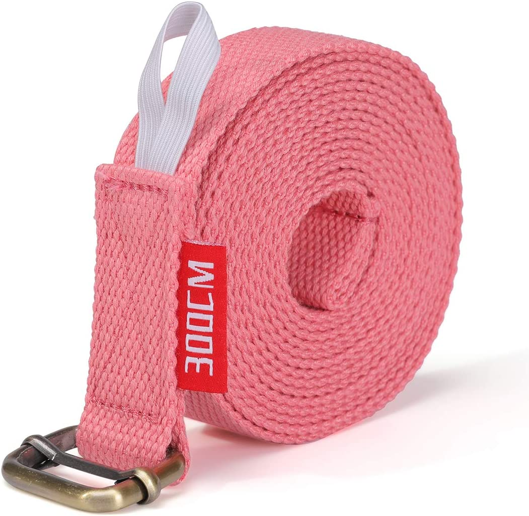 Yoga Strap for StretchingIt is useful for all levels yogi especially best or beginner Adjustable D Ring Buckle 6ft or Extra Long 9.8ft Belt