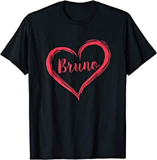 Love Heart Bruno T-Shirt Retro Style