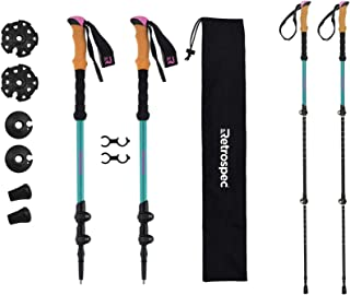 Retrospec High Point Trekking – Adjustable Lightweight Hiking/Walking Sticks