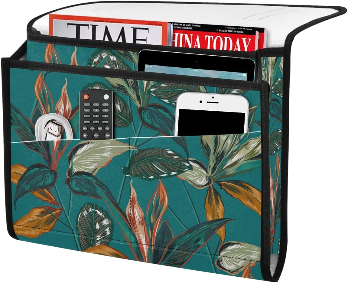DOMIKING Tropical Colorful Leaves Storage Bedside Trust 5 ☆ popular Organi Flowers