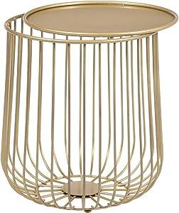 Multiko Moderno Metal Caps Tish Elegante para casa y Exterior 3Colores, Vidrio, Dorado, fi=34 cm