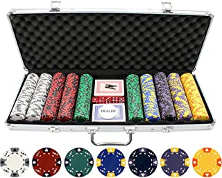 Versa Games 13.5g 500pc Ace King Poker Chip Set