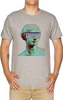 Vendax Vaporwave Accecato T-Shirt Uomo Grigio