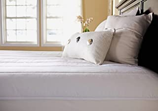 Sunbeam Heated Mattress Pad | Quilted Polyester, 10 Heat Settings , White , Full - MSU3GFS-P000-12A00