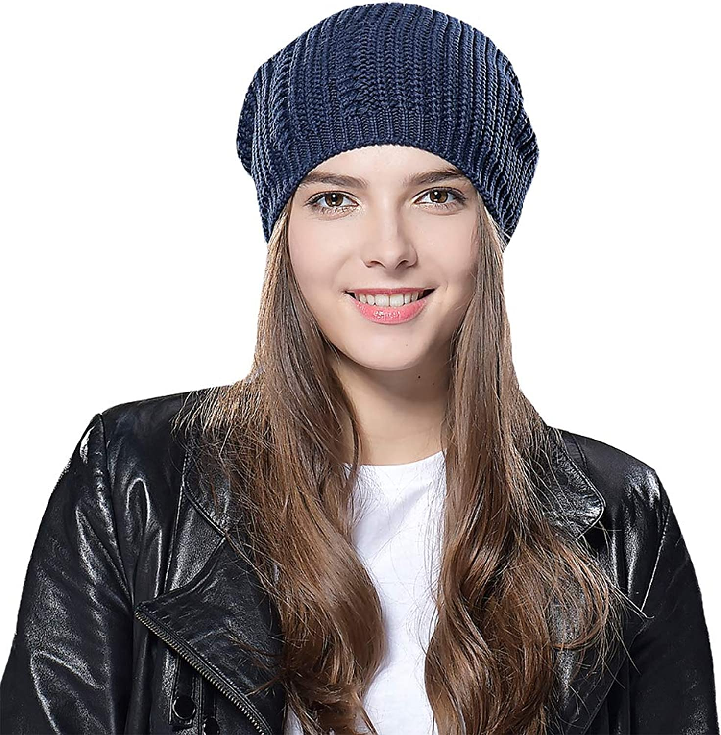 cccad041 Taylormia Taylormia Taylormia Winter Warm Slouchy Wool Solid Knit Beanie Hat  Ski Cap for Women & Men 62f5a7