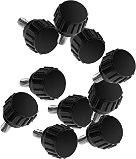 Bluecell 10-Piece M4x15mm Threaded Knurled Thumbscrew Grip Knobs Thumb Screw for Machinery Latche with Storage Case (10, M4x15mm)
