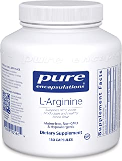 Pure Encapsulations - L-Arginine - Supports Nitric Oxide Production and Healthy Blood Flow - 180 Capsules