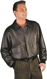 REED Men's Premium Leather Aviator Bomber Jacket