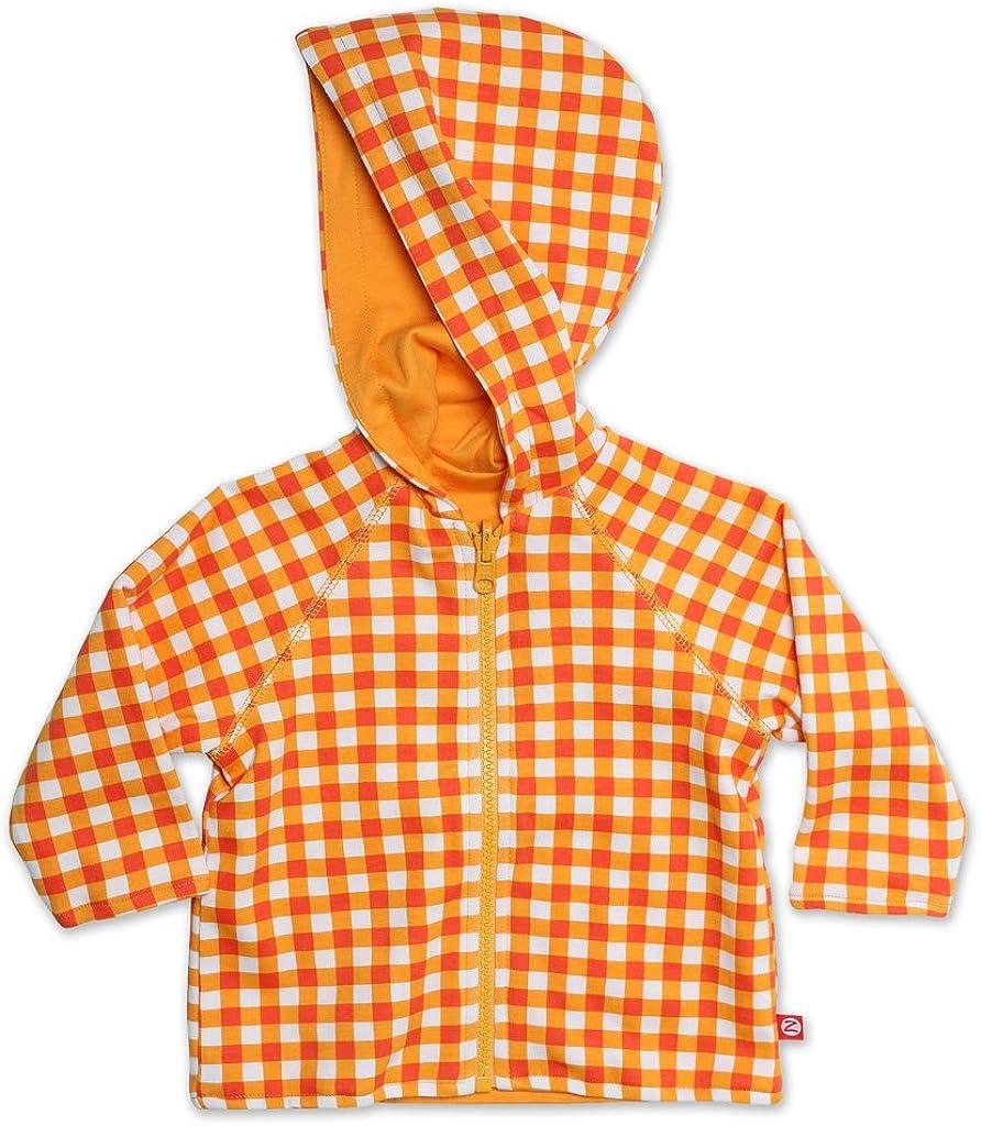 Zutano Unisex Baby Primary Stripe Reversible Zip Hooded Sweatshirt