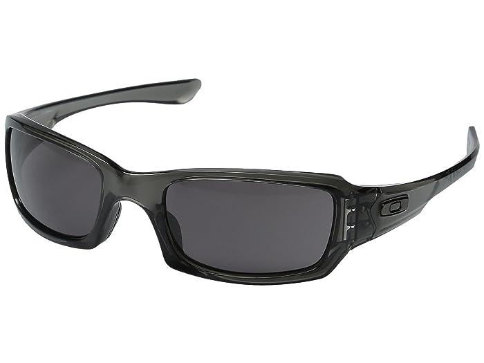 Oakley Fives Squared (Grey Smoke/Warm Grey) Sport Sunglasses