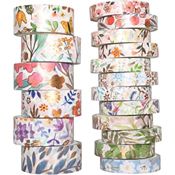 3 Rolls  Love Bloom Grow Washi Tape Decorative Planner Supply journal floral