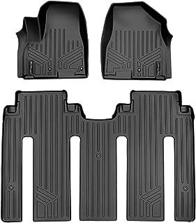 SMARTLINER Custom Fit Floor Mats 2 Row Liner Set Black for 2015-2019 Kia Sedona 7 Passenger Model Only