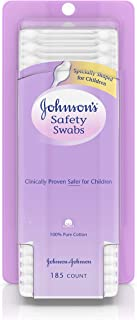 JOHNSON'S Safety Swabs 185 Each (Pack of 4)
