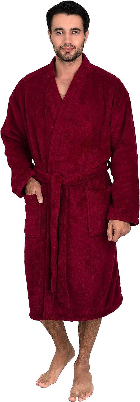 TowelSelections Inventory cleanup selling New item sale Men's Plush Spa Fleece Bathrobe Robe Kimono